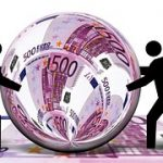 Geld Energie Rollen Schneeball
