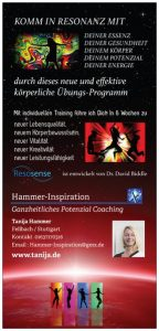 Ganzheitliche Potenzialentwicklung mehr Köperbewusstsein, mehr Lebensfreude mit Tanija Hammer